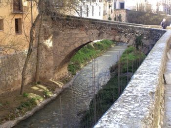 Bridge over Guadalquivir leading to Cordoba's Old Town.