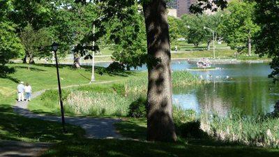 Deering Oaks Park, Portland, Maine.