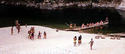 The Embera meeting tourists. jon kohl photo