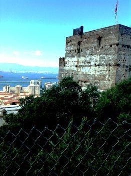 Moorish Castle in Gibraltar.