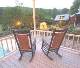 The porch at the Glen-Ella Springs Inn