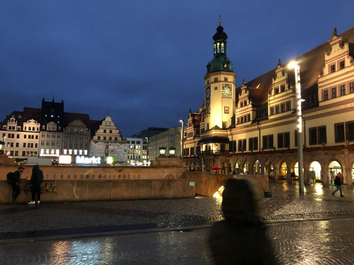 Dresden's Old Town is beautiful at night. Max Hartshorne photo.
