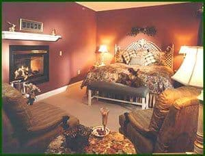 A room at the Stone Hill Inn