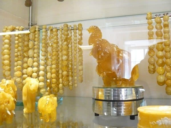 A display at the Amber Museum