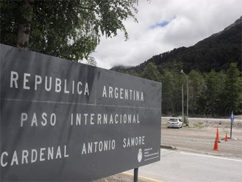 Argentina's border crossing with Chile, in Patagonia. photos by John Dennehey.