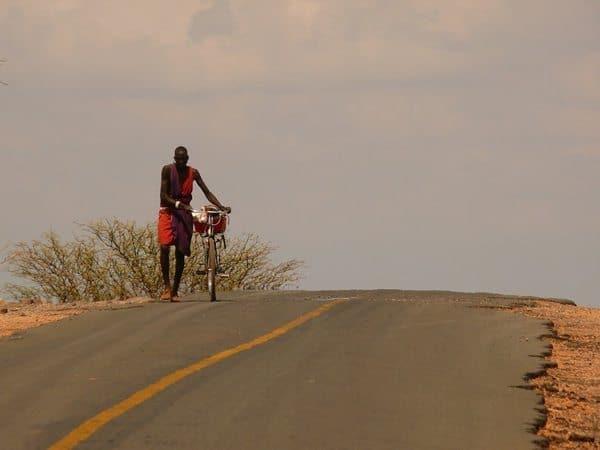 Maasai bike rider.