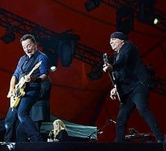Bruce Springsteen and Stevie Van Zandt at Roskilde, Denmark.