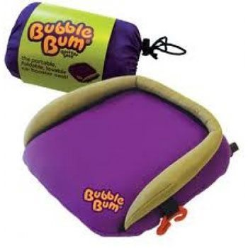 The Bubblebum Booster Seat is great for travel.