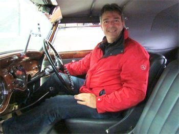 Philippe at the wheel. photos by David Rich.