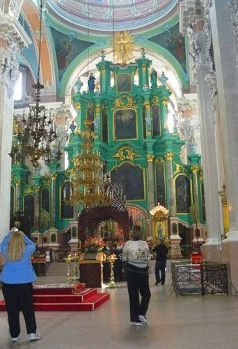 The interior of the Church of the Holy Spirit