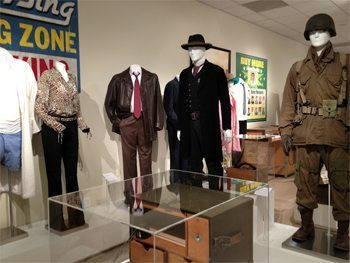 Costumes from TV shows and movies at the Paley Center.