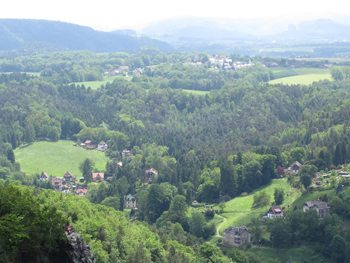 Countryside in Bastei.