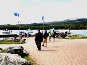 The docks on Maligne Lake