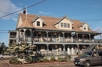 The Dockside Inn, newly renovated and right on the Oak Bluffs Harbor, easy walk from the ferry.