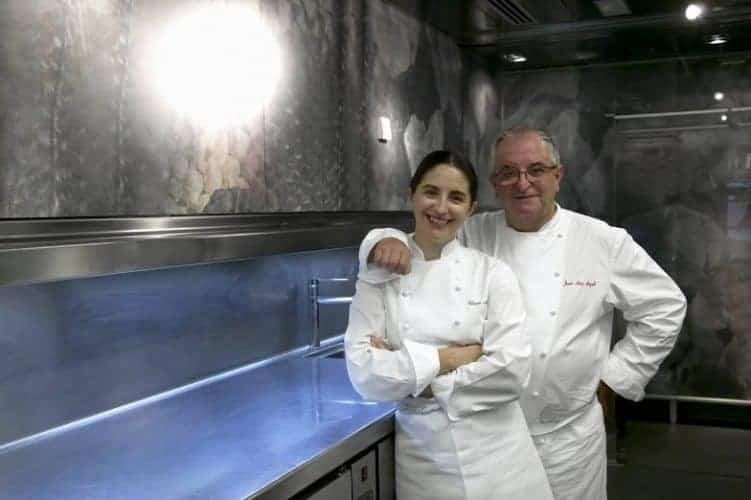Elena and Juan Mari Arzak in their famous restaurant.