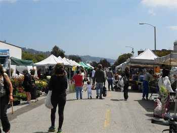 The farmers market in Beverly Hills.