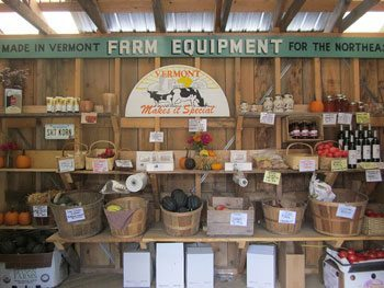 Organic produce and goods sold at the farmstand of Lincoln Farm
