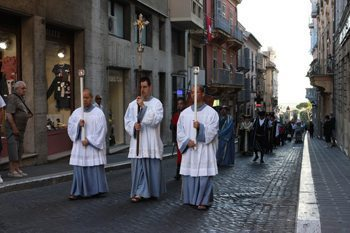 Feast day parade in Tarquinia.