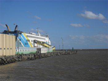 The ferry to Uruguay