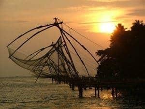 Cochin: a Chinese fishing net. photos by Linda Walten.
