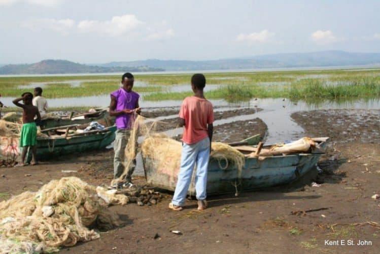 Fishing on Lake Awasa