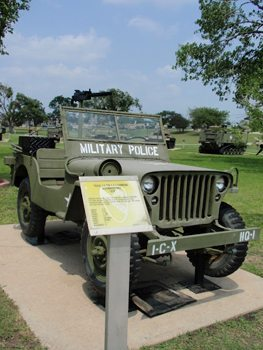 A jeep at Fort Hood, Texas. photos by Maureen Bruschi.