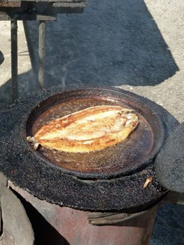 Fried lake fish, it's what's for lunch.