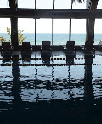The salt water pool at the Gurney Hotel, Montauk.