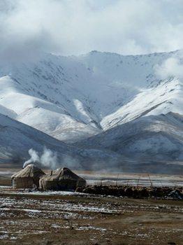 High altitudes in Kyrgyzstan.