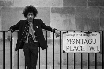 Jimi Hendrix in London.