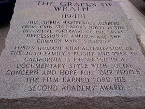 John Ford memorial inscription in Portland, Maine.