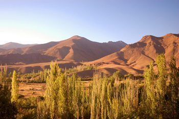 The Karkas mountains in rural Iran.
