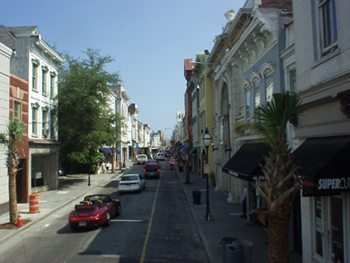 King Street shopping area, Charleston.