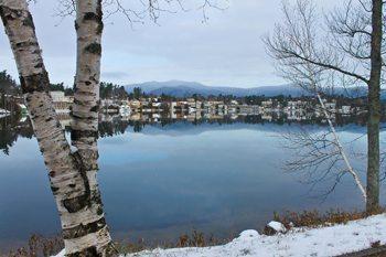 Lake Placid, looking across Mirror Lake.