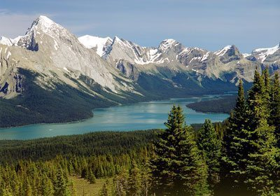 Maligne Lake from the Bald Hills. Photos by Habeeb Salloum.