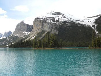 Maligne Lake, Jasper National Park, in Alberta Canada.
