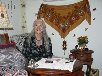 Madame Vera, the resident psychic at the Stanley Hotel in Estes Park, Colorado