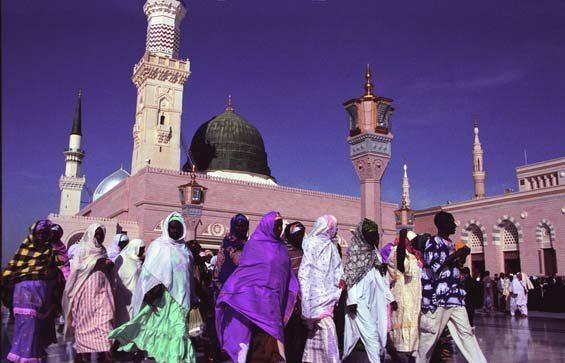 Masjid-al-medina mosque in Saudi Arabia.