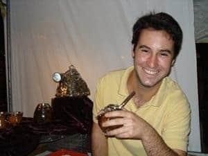 Inti Smith drinking mate.