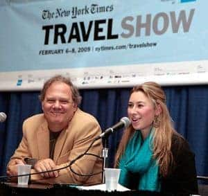 GoNOMAD Editor Max Hartshorne and Julia Dimon of 'Word Travels'