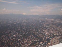 Mexico City from the air.