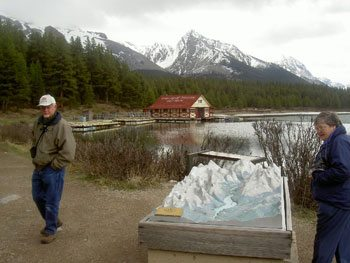 A model of Jasper National Park