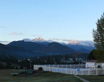 Morning light on Long's Peak