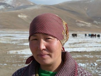A nomad woman.