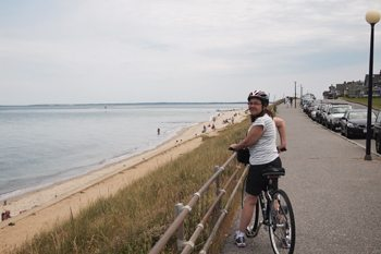 Bike paths connect most of the major towns on the island, except for Chilmark and Aquinnah.