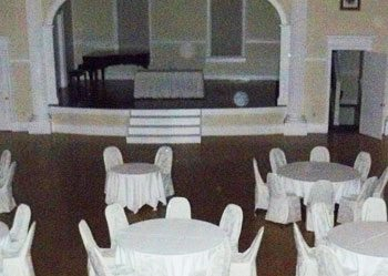 Ghostly orbs in the concert hall of the Stanley Hotel