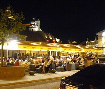 In the evening, all of Vilnius becomes one big outdoor cafe.