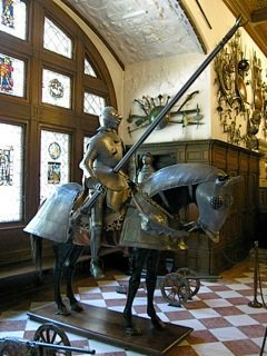 Knight at Peles Castle, Bucharest.
