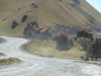 The road in Bishtek.
