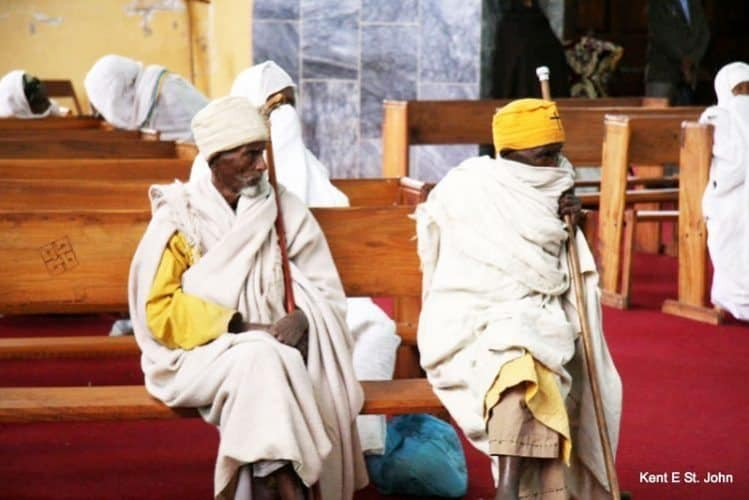 Church service in Axum